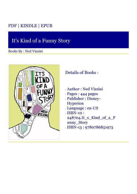 Kindle Download It S Kind Of A Funny Story Funny Stories Funny A Funny