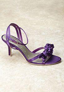 Purple Wedding Shoes Wedge Low heel -- 1 inch wedge shoes ...