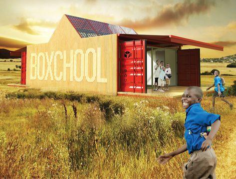 shipping container outdoor classroom Elementary-site design - combien coute une maison en autoconstruction