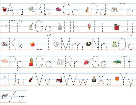 Traceable Alphabet For Learning Exercise   Dear Joya   Kids Activity ...