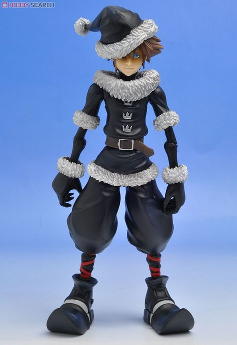Sora Christmas Town Cosplay.Kingdom Hearts Ii Sora Christmas Town Ver Figura