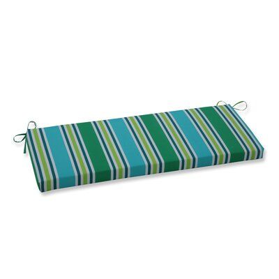 Bay Isle Home Hester Stripe Indoor Outdoor Bench Cushion Blue Pillows Bench Cushions Custom Outdoor Cushions