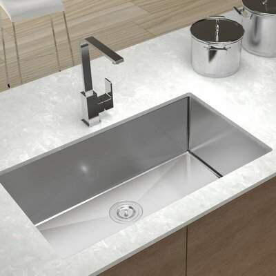 Mensarjor Mensarjor 27 L X 18 W Undermount Kitchen Sink With Basket Strainer Mensarjor Cottage Kitchen Design Sink Undermount Kitchen Sinks