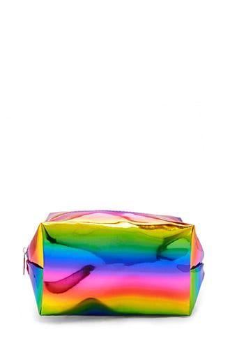 Metallic Rainbow Makeup Bag