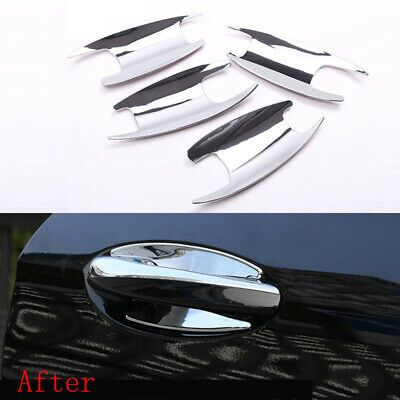 Details About 4pcs Door Handle Bowl Trim Cover Abs Chrome For Mercedes Benz C Class Glc Class In 2020 Handled Bowls Benz C C Class