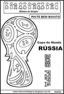 Logomarca Da Copa Mundial De 2018 Para Imprimir E Colorir Com