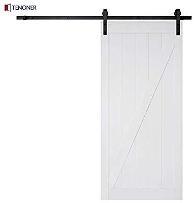 Zeny 12ft Double Door Sliding Barn Door Hardware Kit Smoothly And Quietly Easy To Install Garage Door Design Sliding Barn Door Hardware Barn Doors Sliding