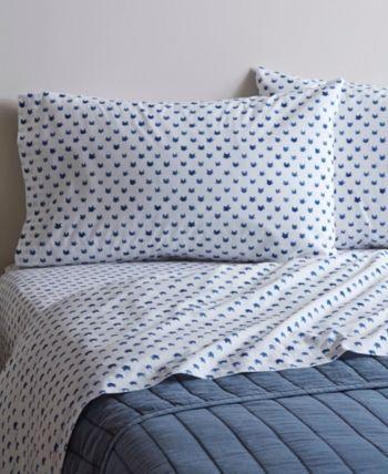 Ed Ellen Degeneres Printed Cotton Percale Twin Sheet Set Reviews Home Macy S Percale Sheets Cotton Sheet Sets Cat Pillowcase