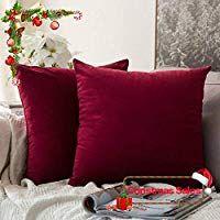 Miulee 2er Set Weihnachten Christmas Samt Soft Solid