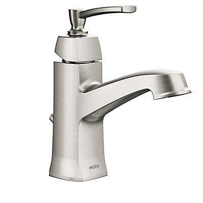Moen Conway Single Handle Bathroom Faucet In Spot Resist Brushed