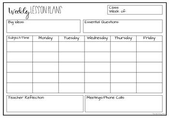 Free Lesson Plan Template By The Blooming Mind Teachers Pay Teachers Lesson Plan Templates Lesson Plan Template Free Editable Lesson Plan Template