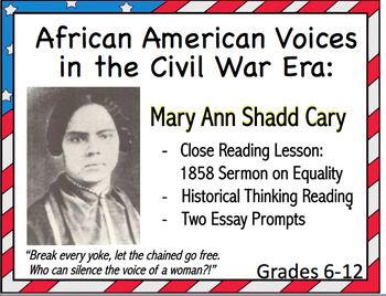 Looking For A Strong African American Female Voice On Abolition Equality And Women S Rights In The Civil Close Reading Lessons Close Reading Reading Analysis