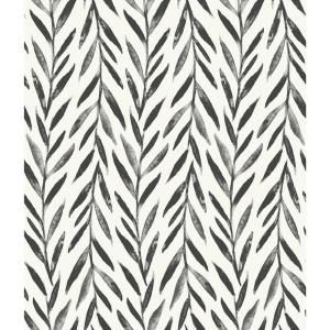 Magnolia Home By Joanna Gaines Willow Black Paper Strippable Roll Covers 56 Sq Ft Mk1136 The Home Depot Magnolia Homes Magnolia Wallpaper Stripped Wallpaper