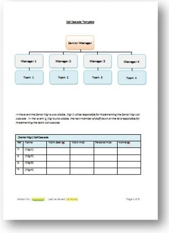 Calling Tree Template Word Tree Templates Templates Business Template