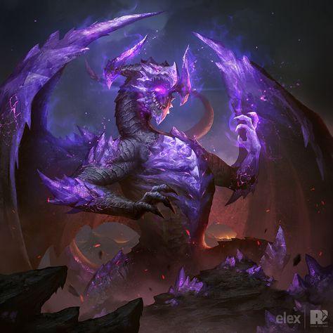Dragon Illustration x 2, Red Pencil Art