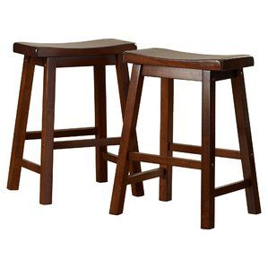 Save Money On Mazama 24 Bar Stool Set Of 2 By Loon Peak Counter Height Stools Counter Stools Saddle Stools