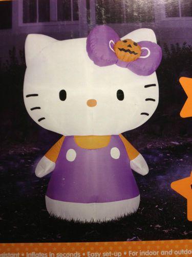 Hello Kitty 3 3 ft Airblown Inflatable Halloween Decoration LED - hello kitty halloween decorations