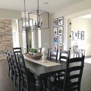 Another Space Saving Alternative Is To Buy Rounded Dining Tables They Can Use Flexible Sitting Modern Farmhouse Dining Farmhouse Dining Farmhouse Dining Room