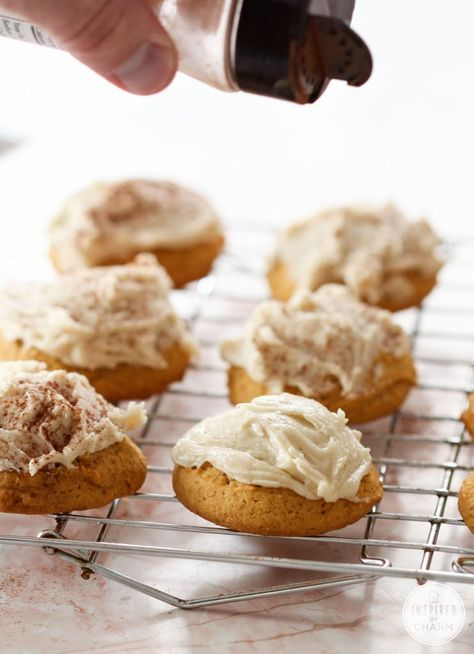 Frosted Pumpkin Cookies - Favorite Fall Recipes #frosted #pumpkin #cookie #recipe #fallcookie