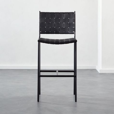 Woven Black Leather Bar Stools Leather Counter Stools Counter Stools Black Counter Stools