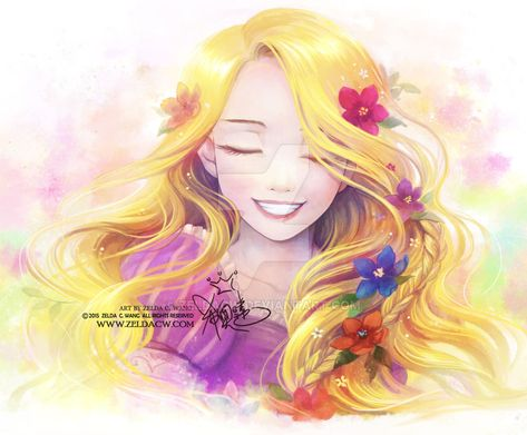 "Golden Light by zeldacw.deviantart.com on @DeviantArt - Rapunzel from ""Tangled"""