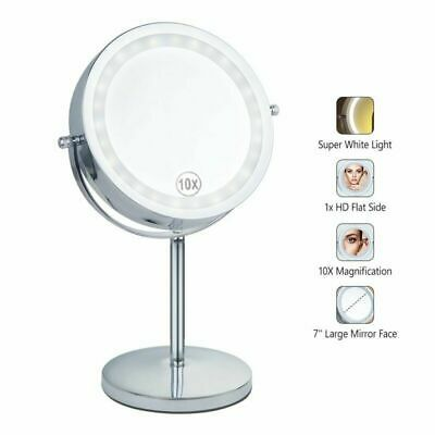 Advertisement Benbilry Lighted Makeup Mirror Led Double Sided 1x 10x Magnification Cosmetic In 2019 Makeup Mirror With Lights Led Makeup Mirror Mirror