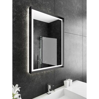 Orren Ellis Ketterer Dimmable Modern Lighted Accent Mirror Finish
