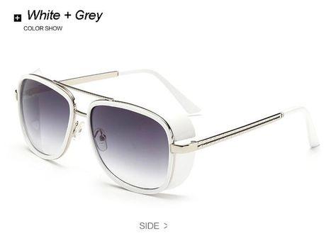 88ac041ec7e Cheaper Iron Man 3 Matsuda Sunglasses Men Square Sun Glasses Brand Designer  Women Punk Sunglass Oculos