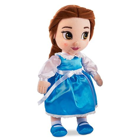 """Disney Store Animators/' Collection Belle Plush Doll Small Size 13/"""" NWT"""