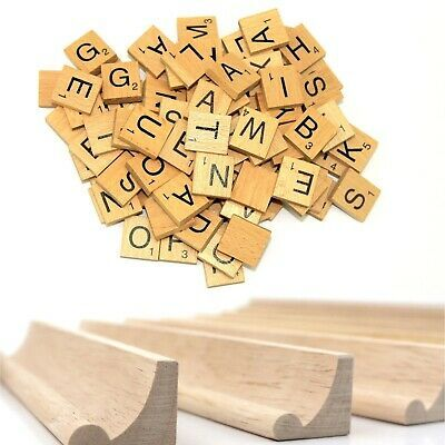200 Wooden Scrabble Tiles Letters Craft Alphabet Board Game Fun Toy Gift UK