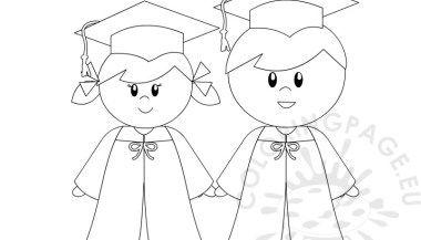 Kindergarten Graduation Coloring Page For Preschool Kindergarten
