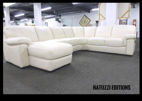 Natuzzi Editions White Leather Sectional B626 Natuzzi Leather