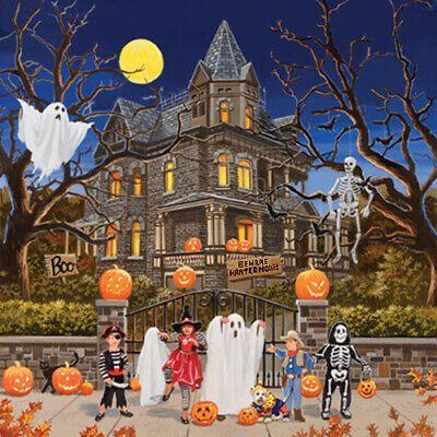 Halloween/_/_/_Beware Haunted Witch Halloween/_/_/_Cross Stitch Pattern DIY