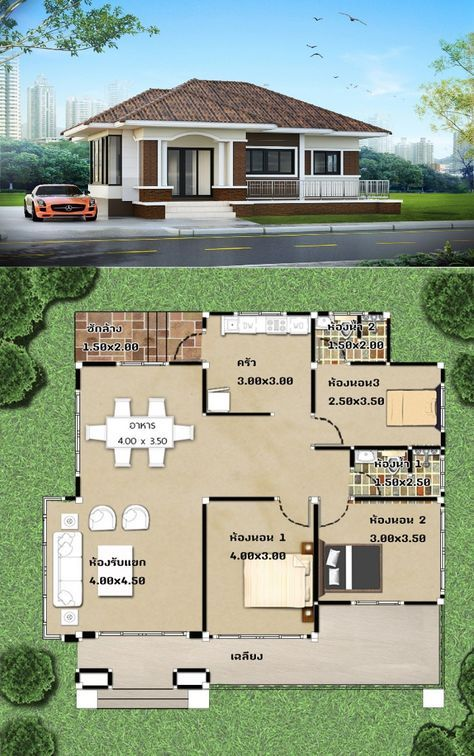 Amazing Three Bedroom One Storey House Designs Pick Your Bet Ulric Home In 2020 House Construction Plan One Storey House House Outside Design