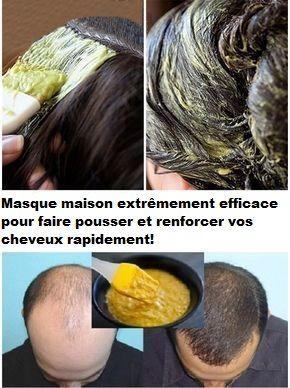 masque pour la pousse des cheveux