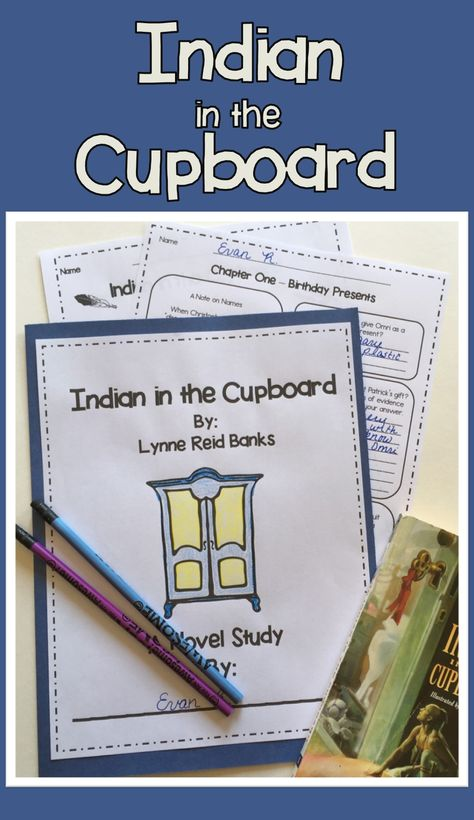 Indian In The Cupboard No Prep Novel Study Indian In The Cupboard Novel Studies Book Study