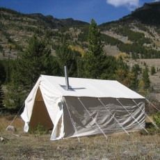 The Big Horn Wall Tent is our standardized wall tent. The Big Horn is offered in two tough and durable fabrics 10.10oz. Marine Treated or in 10.10oz. & Mountain Man Wall Tent - Reliable Tent | Canvas Wall Tent Camping ...