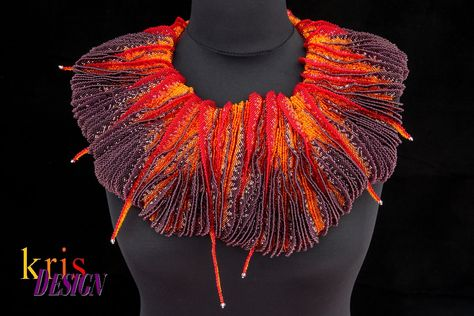 This very special piece of beaded jewelry art is runner up in the Battle of the Beadsmith 2013 and has won place of BeadDreams Contest 2014 in