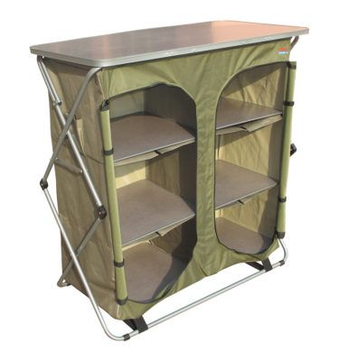 Sierra 4 Shelf Double Camp Cupboard Bushtec Adventure Camping Table Camping Pillows Camping Cot