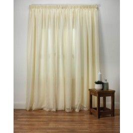 Our Best Selling Voile Curtain Wisteria Offer A Sheer Plain Cream