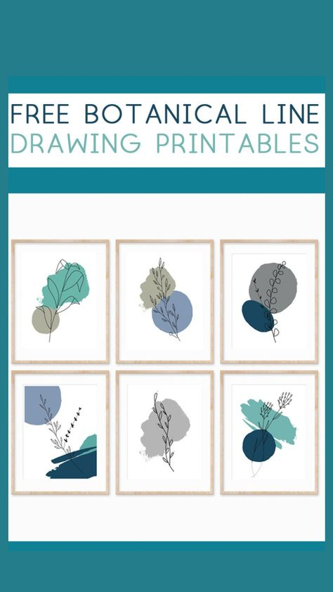 Free Botanical Line Drawing Printables