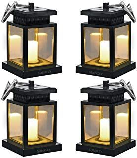 Hanging Solar Lights Sunklly Waterproof Led Outdoor Candle Lantern Decorated In Garden Pa Hanging Solar Lights Outdoor Candle Lanterns Solar Hanging Lanterns