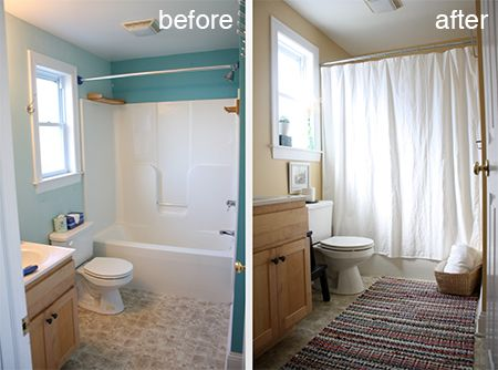 Cover Up Vinyl Flooring Or Ugly Tiles With A Deorative Rug. A Plain White  Shower Curtain Instantly Refreshes A Bathroom. Add Personal ... | Pinterest  | Wu2026 Part 37