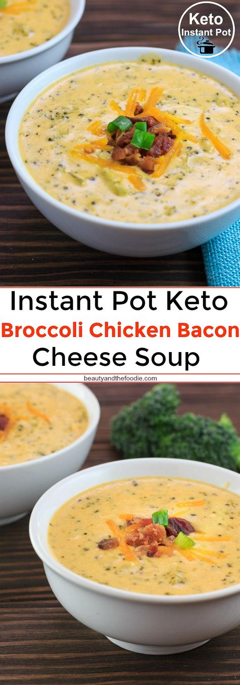Instant pot keto recipes you need to try now. These keto recipes are low carbs so a great option for your fitness goals. Try this keto broccoli and cheese soup, keto slow cooker recipes, low carb keto meals for your keto dinner ideas. Broccoli Chicken, Chicken Bacon, Keto Broccoli Cheese Soup, Keto Chicken Soup, Chicken Recipes, Low Carb Chicken Chili Recipe, Chicken Gnocchi, Gnocchi Soup, Bacon Soup
