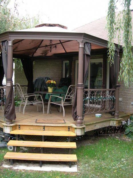 How To Build An Octagon Deck Easydeckstobuild Deck Designs Backyard Building A Deck Gazebo