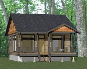 24x36 House 2 Bedroom 1 Bath 864 Sq Ft Pdf Floor Plan Etsy In 2020 Cabin House Plans Small House Plans Tiny Cottage Design