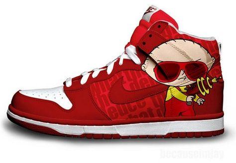 Nike Dunks Custom Design Sneakers : Nike Dunks Family Guy Hi
