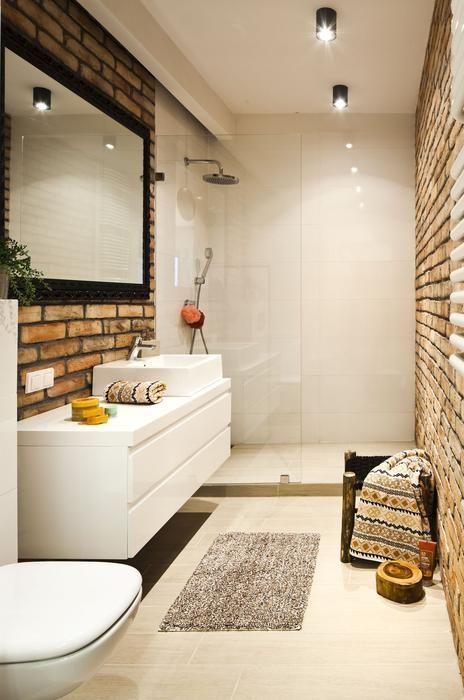 łazienka Z Ceglaną ścianą łazienka W 2019 łazienka