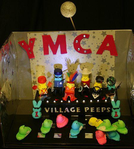 Peeps Diorama Contest Entry - Village Peeps by chris-williams, via Flickr