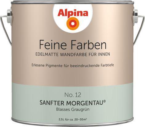 Premium Wandfarbe Grun Graugrun Alpina Feine Farben Sanfter